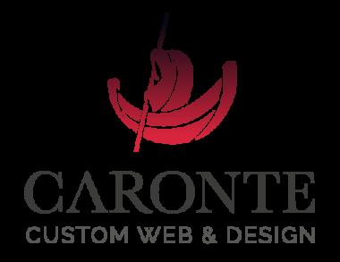 Logotipo de Caronte web Studio. Custom web & design.