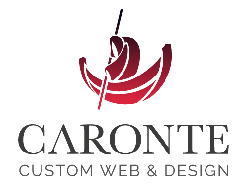 Logotipo de Caronte web Studio. Custom web & design.
